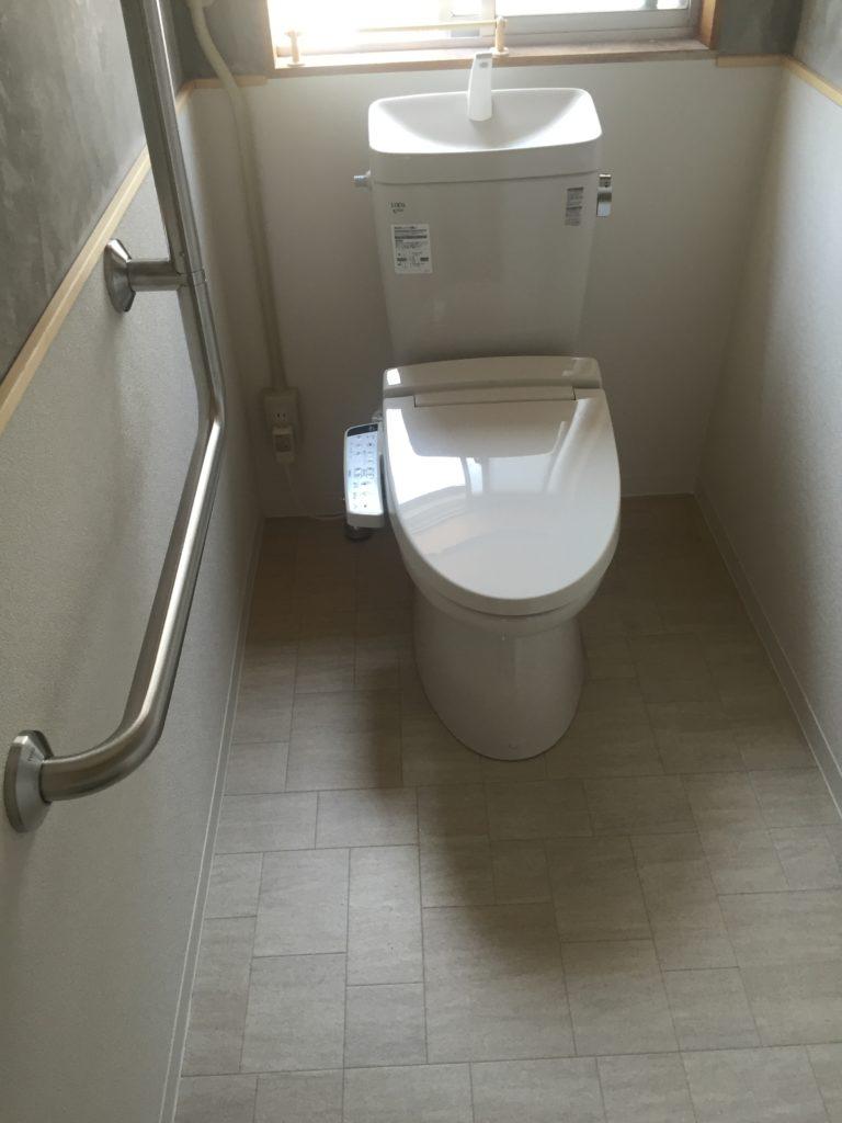 和式トイレから洋式トイレ工事 画像