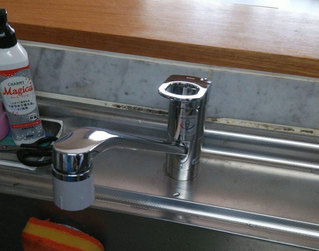 名古屋市キッチン水栓交換工事