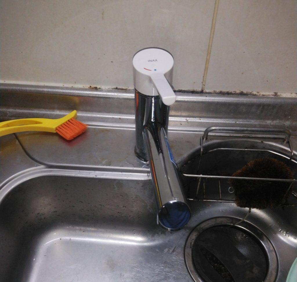 名古屋市天白区 キッチン水栓交換工事 画像