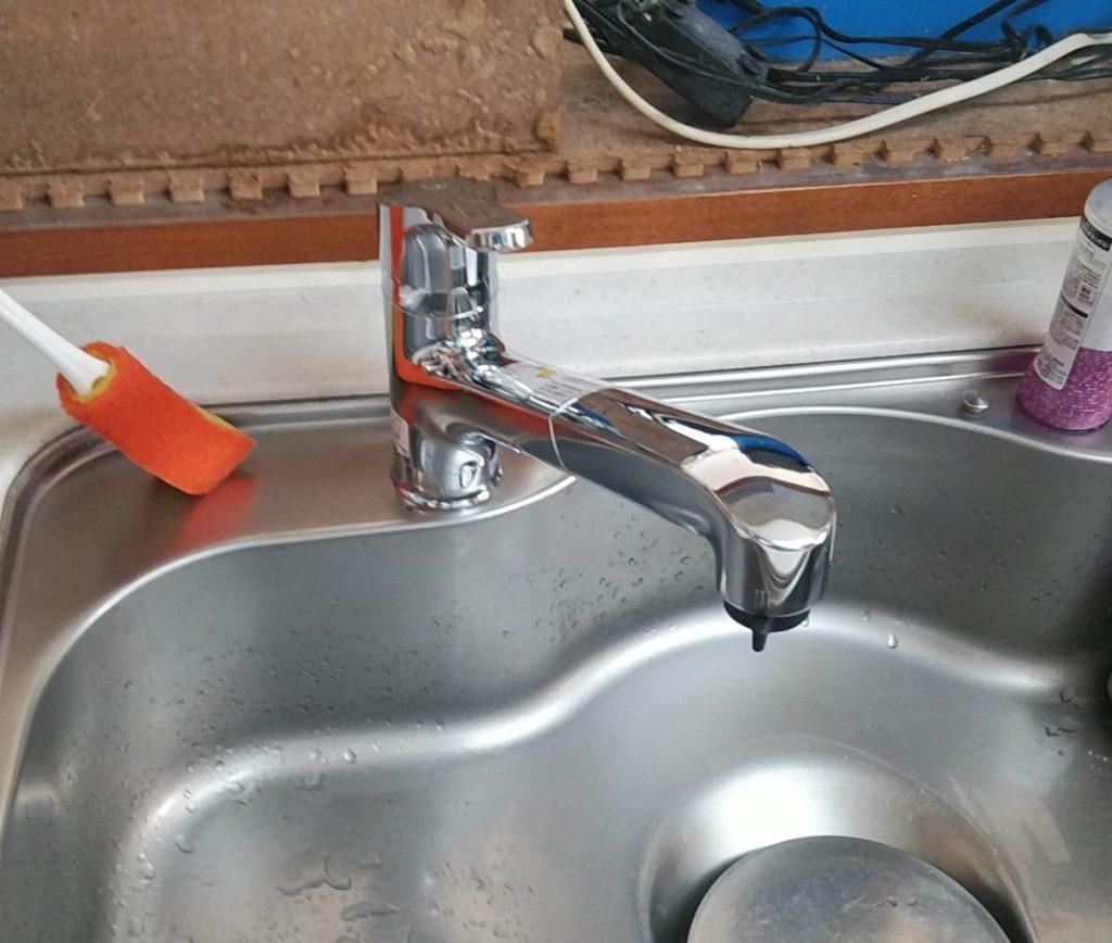 清須市 キッチン水栓交換工事 画像