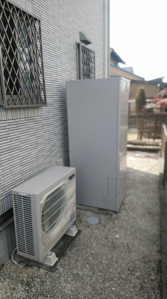 知多市 エコキュート交換工事 画像