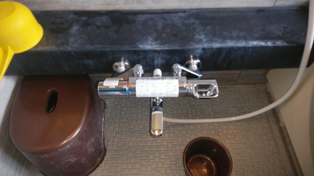 天白区 シャワーバス水栓交換工事 画像