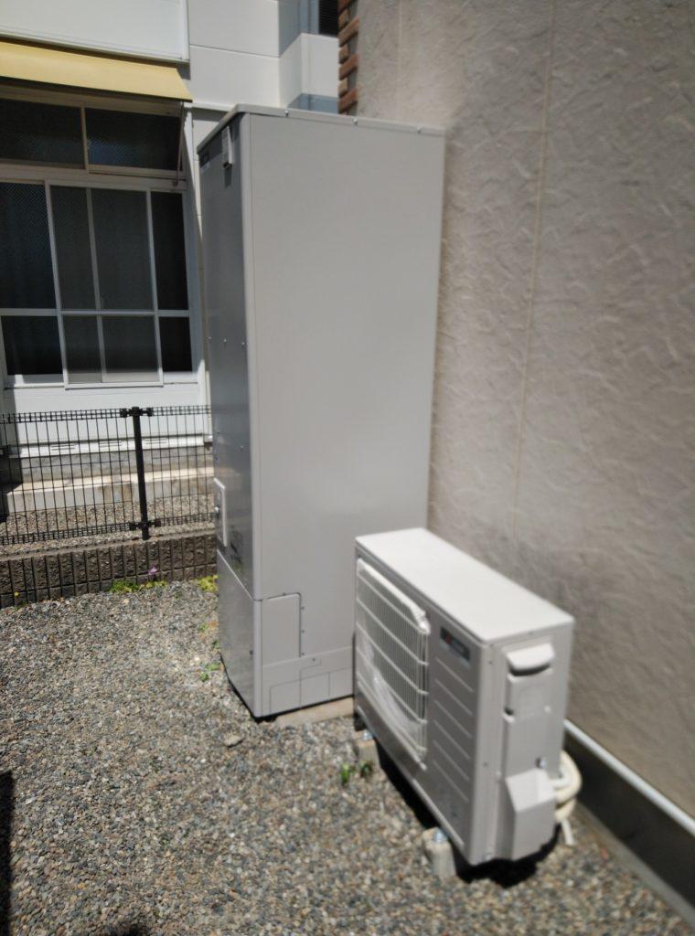 岡崎市 エコキュート交換工事 画像