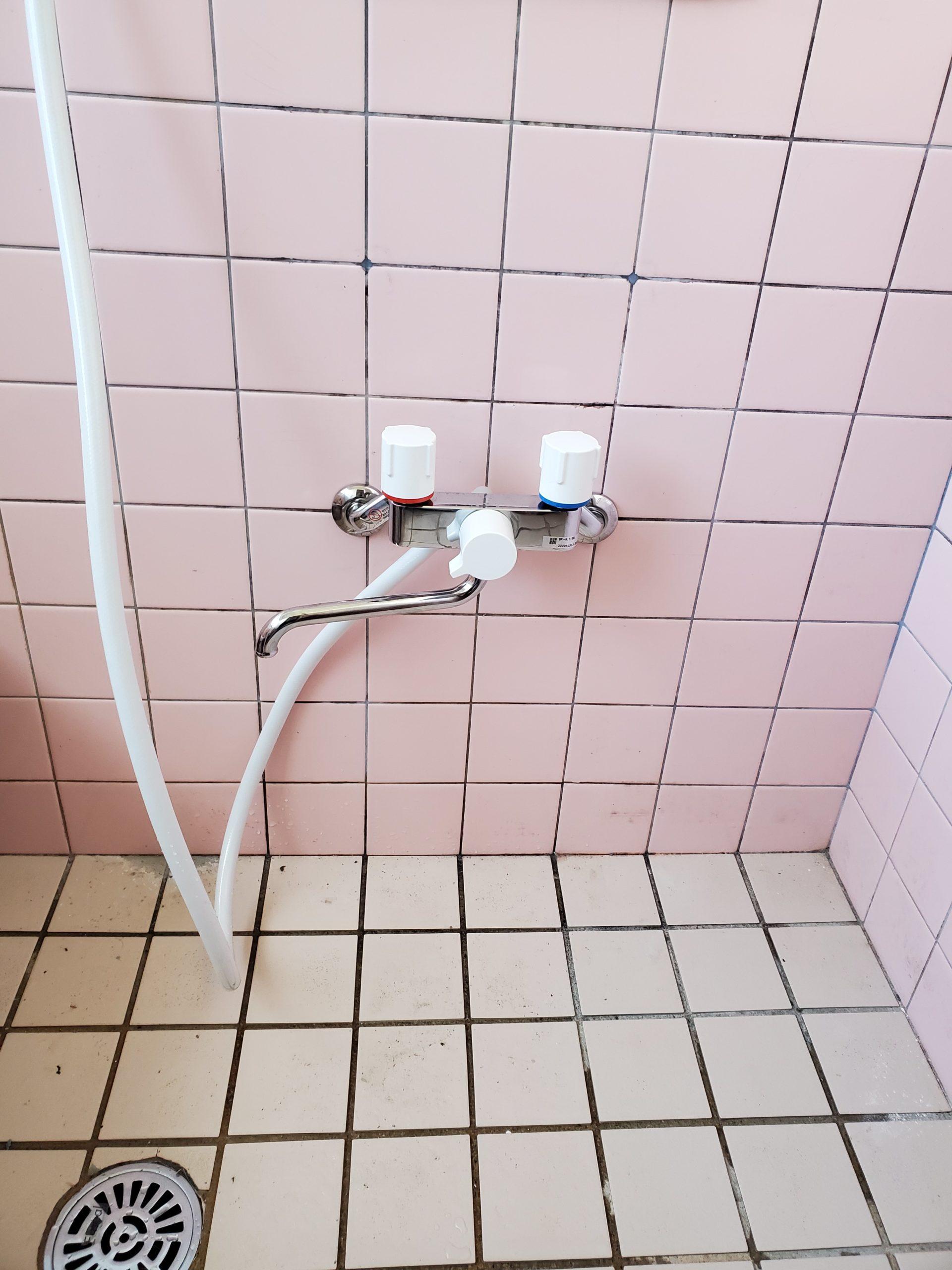 シャワーバス水栓交換工事 名古屋市中村区