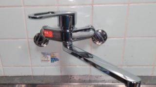 名古屋市 キッチン水栓交換工事 画像