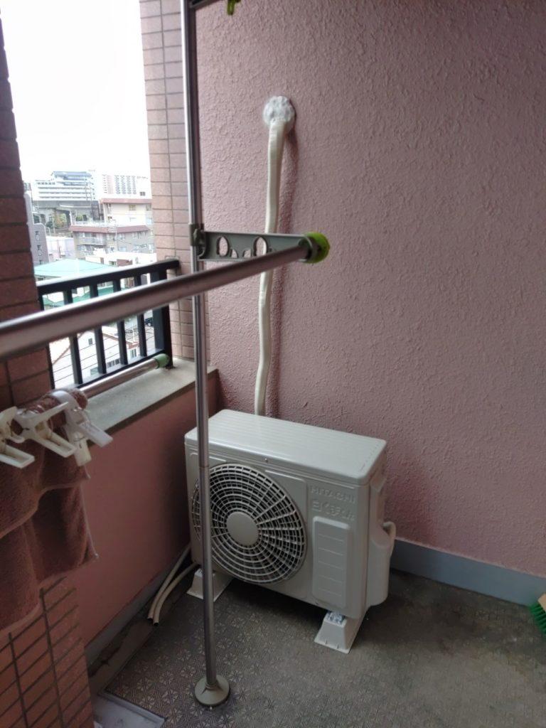 名古屋市 エアコン交換工事 室外機 画像